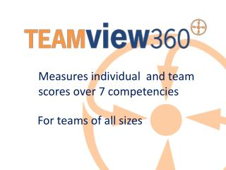 Measures individual  and team scores over 7 competencies