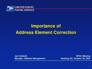 Importance of Address Element Correction