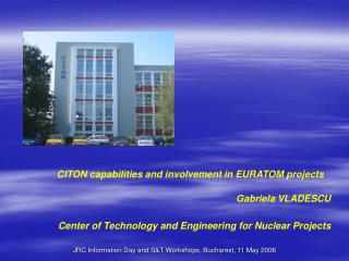 CITON capabilities and involvement in EURATOM projects