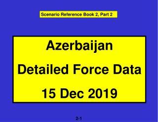 Azerbaijan Detailed Force Data 15 Dec 2019