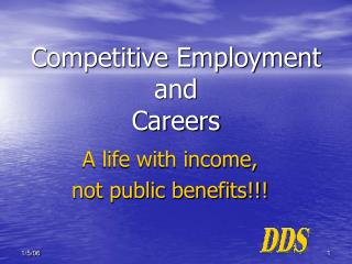 Competitive Employment and   Careers