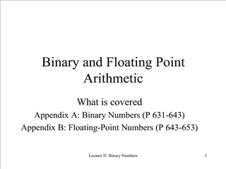 Binary and Floating Point Arithmetic