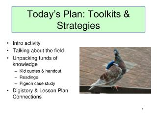 Today's Plan: Toolkits & Strategies