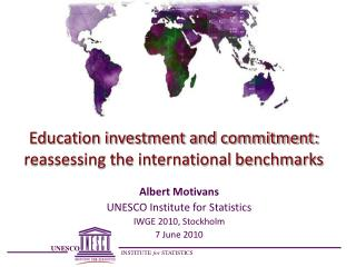 Education investment and commitment: reassessing the international benchmarks