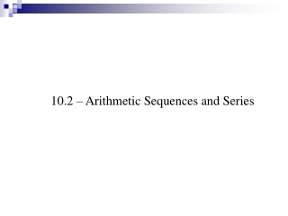 2.2  Sequences and series