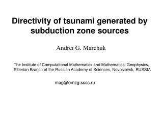 Directivity of tsunami generated by subduction zone sources