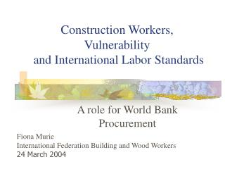 A role for World Bank Procurement