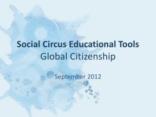 Social Circus Educational Tools Global Citizenship