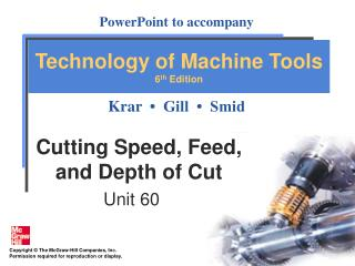 Cutting Speed, Feed, and Depth of Cut