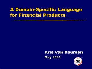 A Domain-Specific Language for Financial Products