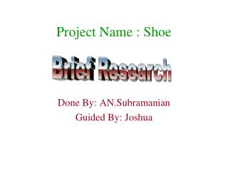 Project Name : Shoe