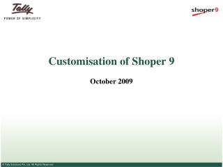 Customisation of Shoper 9