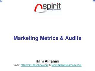 Marketing Metrics & Audits