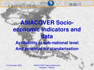 ASIACOVER Socio-economic indicators and data
