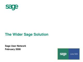 The Wider Sage Solution