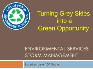 Environmental Services Storm Management