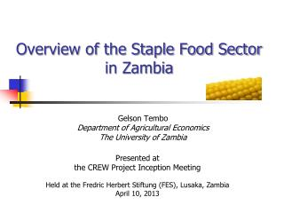 Overview of the Staple Food Sector in Zambia