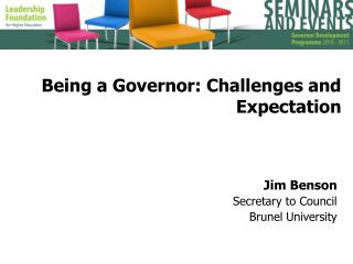 Being a Governor: Challenges and Expectation