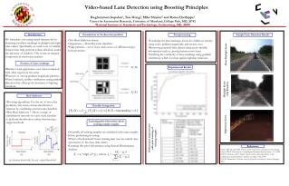 Video-based Lane Detection using Boosting Principles