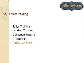CU Staff Training