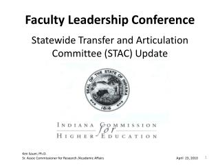 Faculty Leadership Conference Statewide Transfer and Articulation Committee (STAC) Update