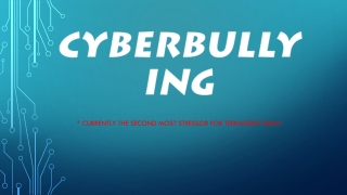 Legal Aspects of the 1st Amendment Networking, Bullying, MySpace