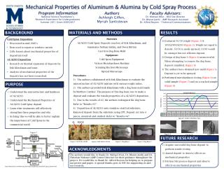 Mechanical Properties of Aluminum & Alumina by Cold Spray Process