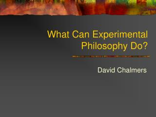 What Can Experimental Philosophy Do?