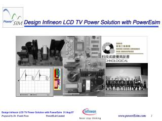 Design Infineon LCD TV Power Solution with PowerEsim