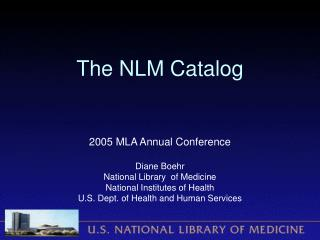 The NLM Catalog