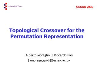 Topological Crossover for the Permutation Representation