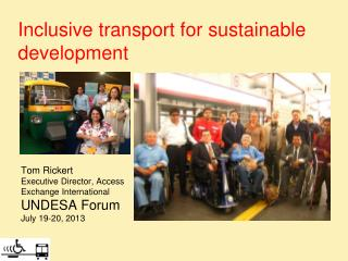 Inclusive transport for sustainable  development