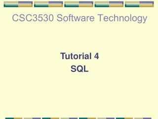 CSC3530 Software Technology