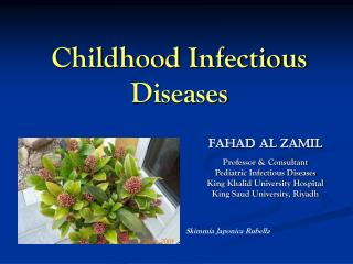 Childhood Infectious Diseases