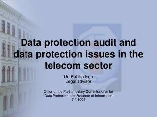Data protection audit and data protection issues in the telecom sector