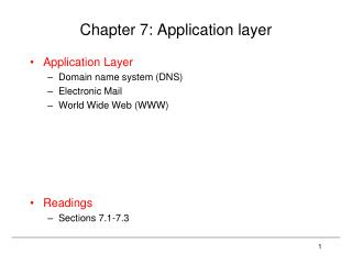 Chapter 7: Application layer