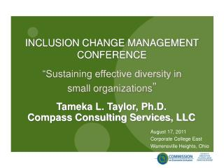 INCLUSION CHANGE MANAGEMENT CONFERENCE