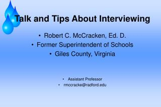 Talk and Tips About Interviewing