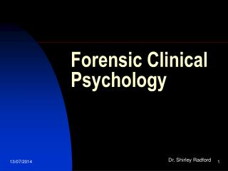Forensic Clinical Psychology