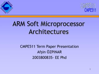 ARM Soft Microprocessor Architectures