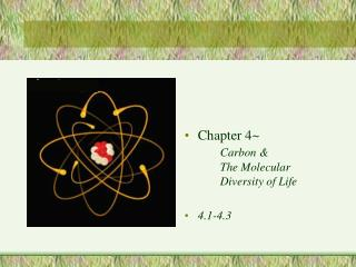 Chapter 4~ Carbon & The Molecular Diversity of Life 4.1-4.3