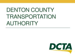 Denton County Transportation Authority