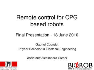 Remote control for CPG based robots