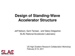 Design of Standing-Wave Accelerator Structure