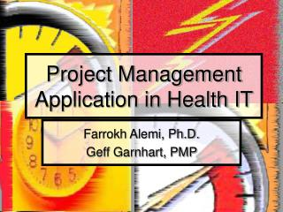 Project Management Application in Health IT