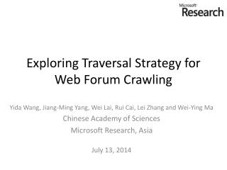 Exploring Traversal Strategy for Web Forum Crawling
