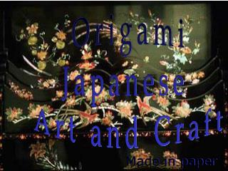 Origami Japanese Art and Craft