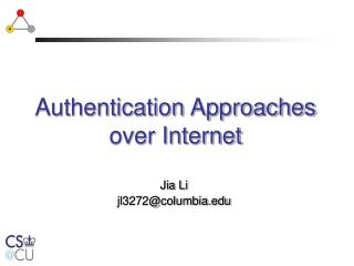 Authentication Approaches        over Internet