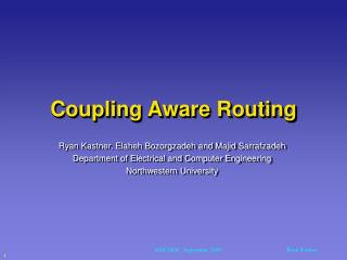 Coupling Aware Routing