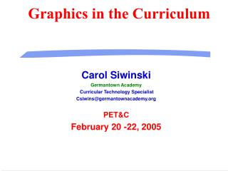Graphics in the Curriculum